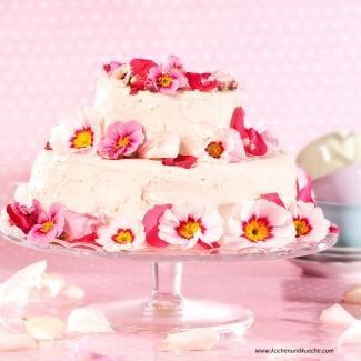 Torten Dekorieren Magazin sommerliche torte mit blüten kochrezepte kochen küche