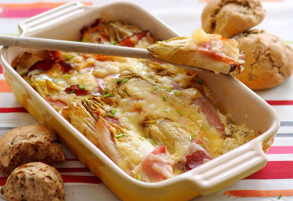 Chicorée Kernschinken Auflauf Kochrezepte Von Kochen Küche