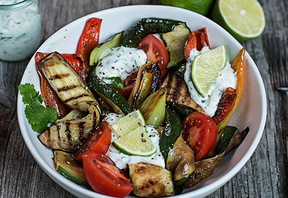 Gegrillter Gemüse Salat Kochrezepte Von Kochen Küche
