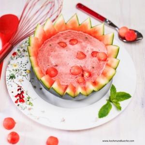 Kalte Wassermelonensuppe mit Schilcher