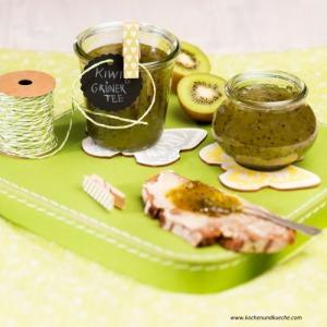Kiwi-Marmelade mit grünem Tee