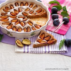 Zwetschkenkuchen mit Buchweizenmehl