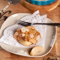 Apfelauflauf mit Mandeldecke