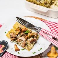Eierschwammerl-Lasagne mit Österzola