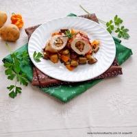 Mit Mascarpone und Pilzen gefüllte Hendlbrust