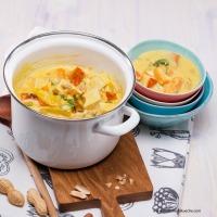 Gemüse-Tofu-Erdnuss-Eintopf