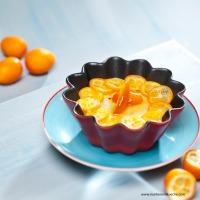 Grießpudding mit karamellisierten Kumquats (Zwergorangen)