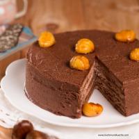 Kastanien-Torte mit Rotwein