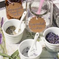 Lavendelgewürzsalz und Lavendelzucker