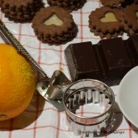 Orangen-Schokoladen-Kekse mit Marzipan selber machen