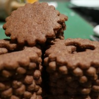 Orangen-Schokoladen-Kekse mit Marzipan selber machen1