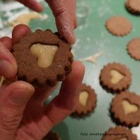 Orangen-Schokoladen-Kekse mit Marzipan selber machen5
