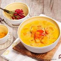 Würziger Hendl-Kürbis-Eintopf mit Curry