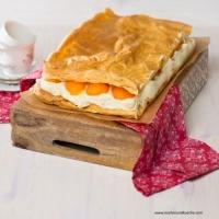 Brandteig-Marillenkuchen