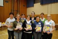 Am Foto die siegreichen Gewinnerinen des Hauswirtschaftscup.