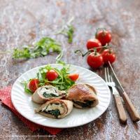 Schweinsschnitzel mit Spinat-Schafkäse-Fülle