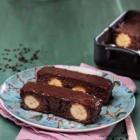 Schokolade-Reis-Terrine mit Bananen