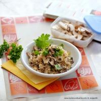Schneller Zitronen-Schwammerl-Reis