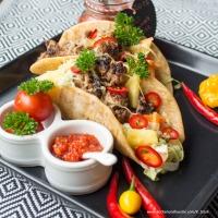 Tacos mit Chili-Rohkost und faschiertem Rindfleisch