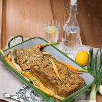 Vegetarischer Braten mit Ofengemüse
